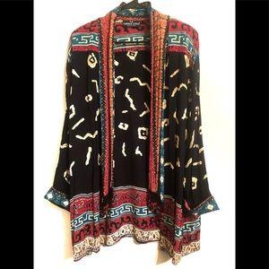 Vintage Carole Little Bead Boho Chic Kimono